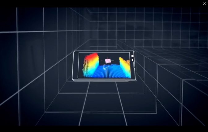 Google project tango 3D mapping graphic